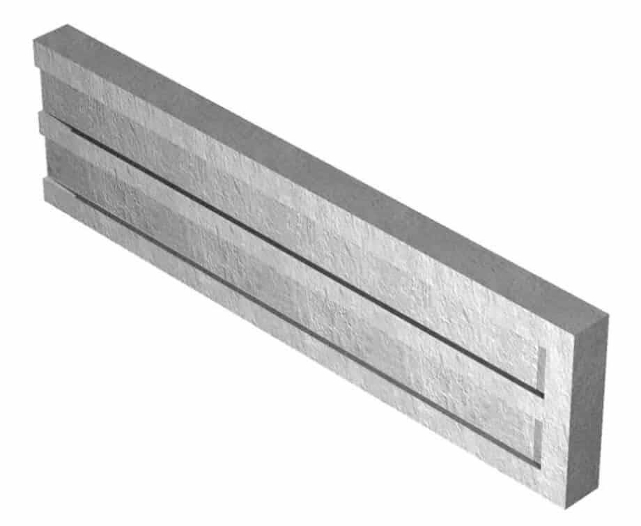 1.83M x 300 x 50mm Recessed Concrete Gravel Board