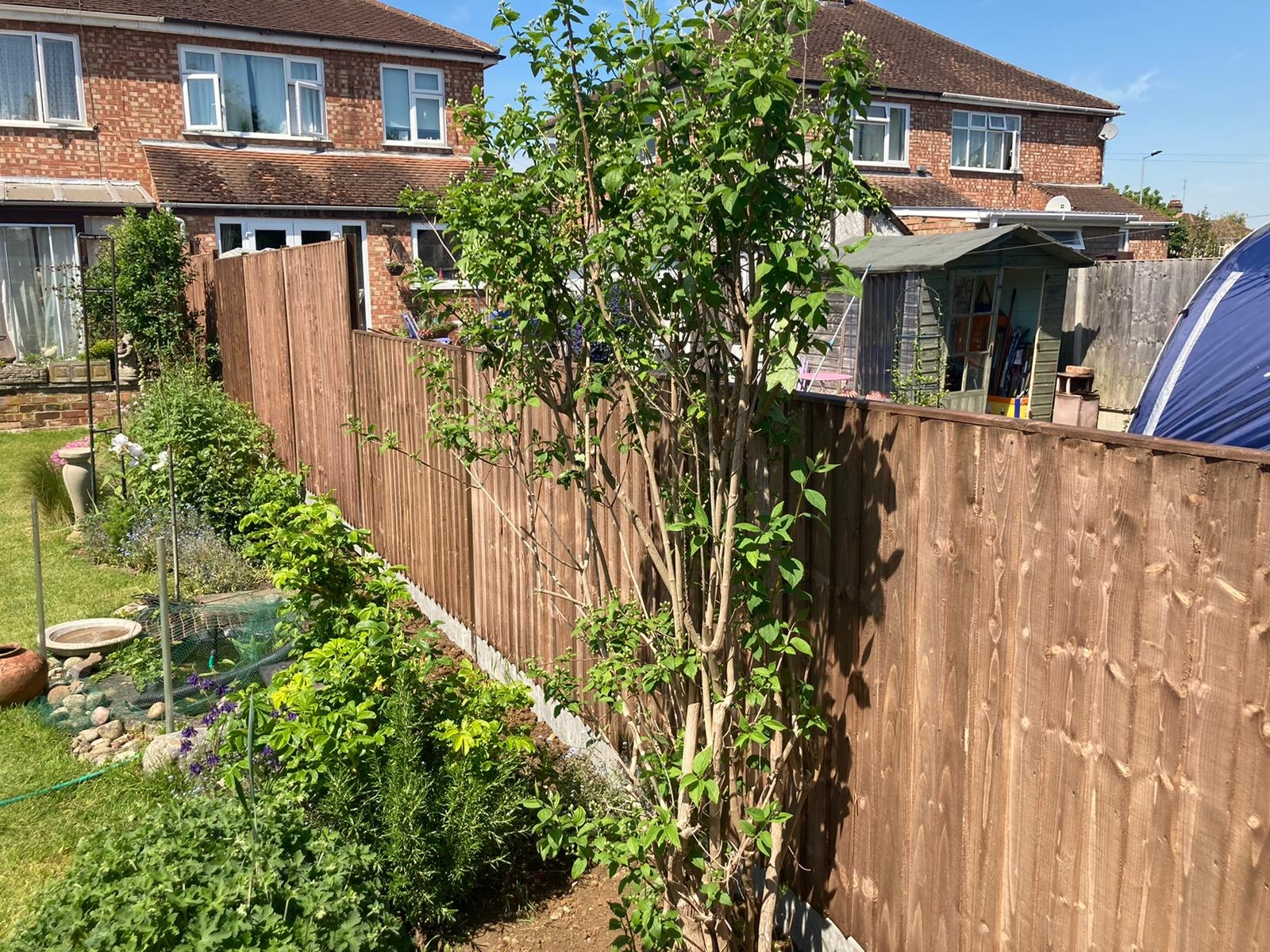 Durapost fencing with concrete gravel boards (Peterborough) 4