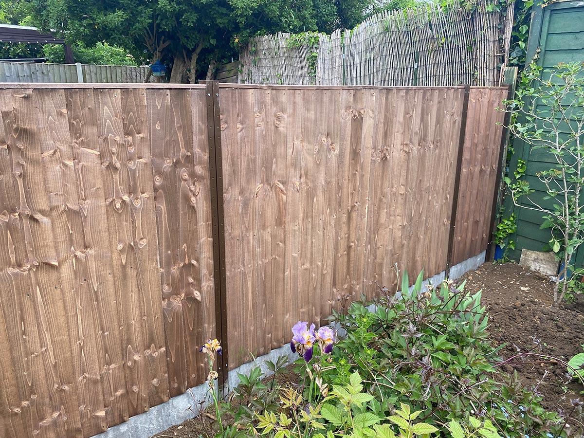Durapost fencing with concrete gravel boards (Peterborough) 6